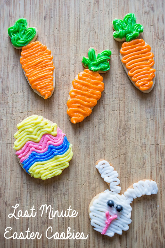 Last Minute Easter Cookies