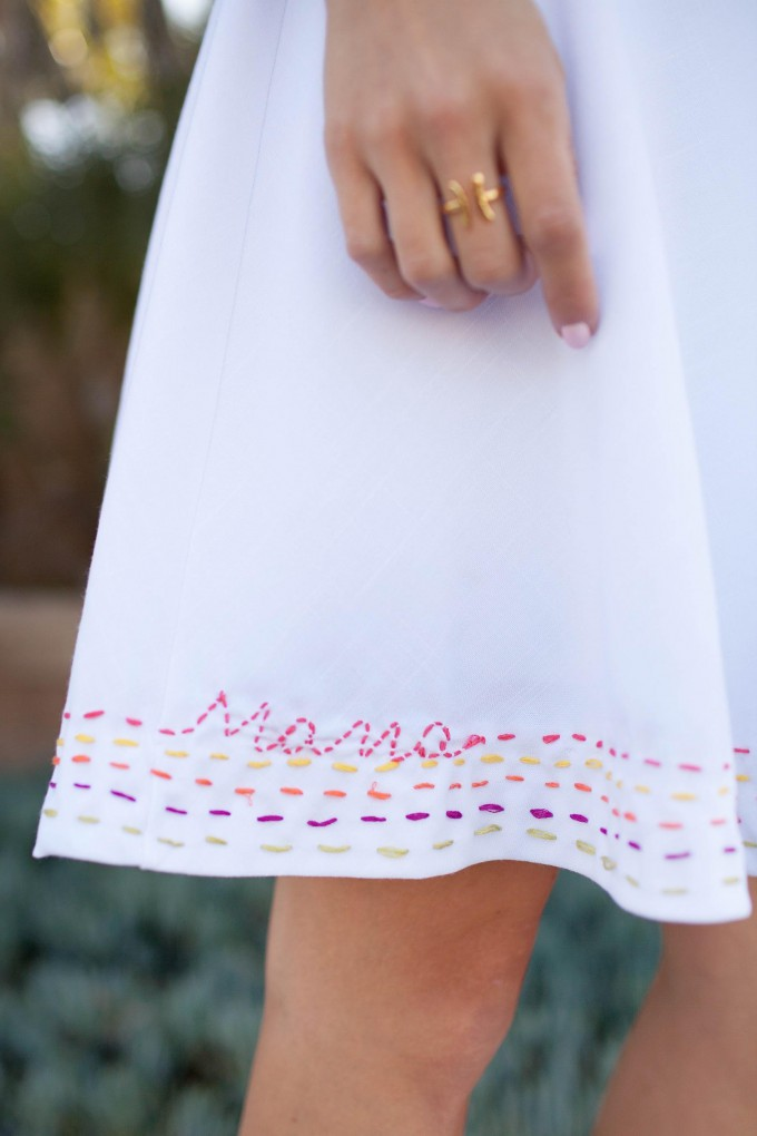 Mother's Day Embroidered Dress