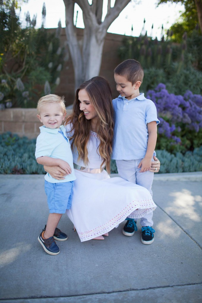 Mother's Day Embroidered Dress // How to Embroider a Dress