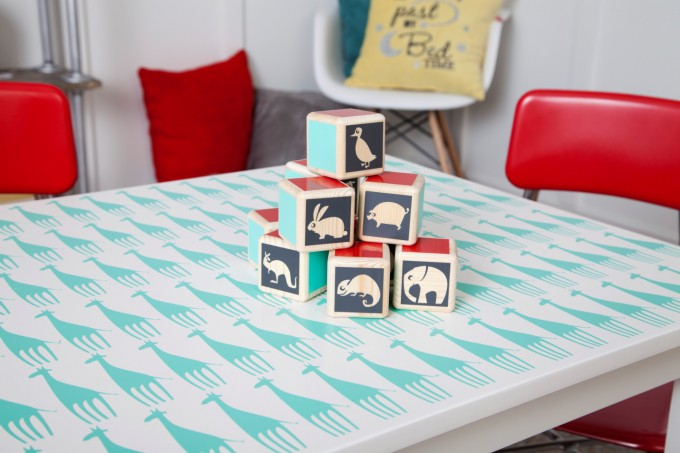 DIY Kids Playroom made with Cricut Explore One available exclusively at Joann.com PRE-ORDER NOW! // DIY Kids Play Table Tutorial