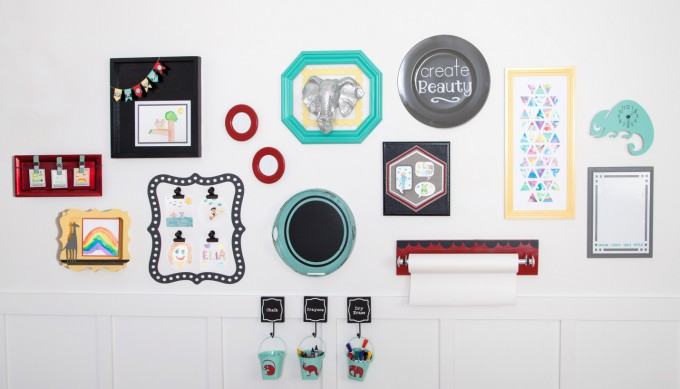 DIY Kids Playroom made with Cricut Explore One available exclusively at Joann.com PRE-ORDER NOW! // DIY Kids Gallery Wall Tutorial