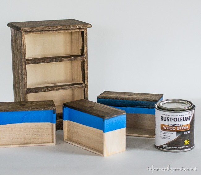 How to stain dresser drawers