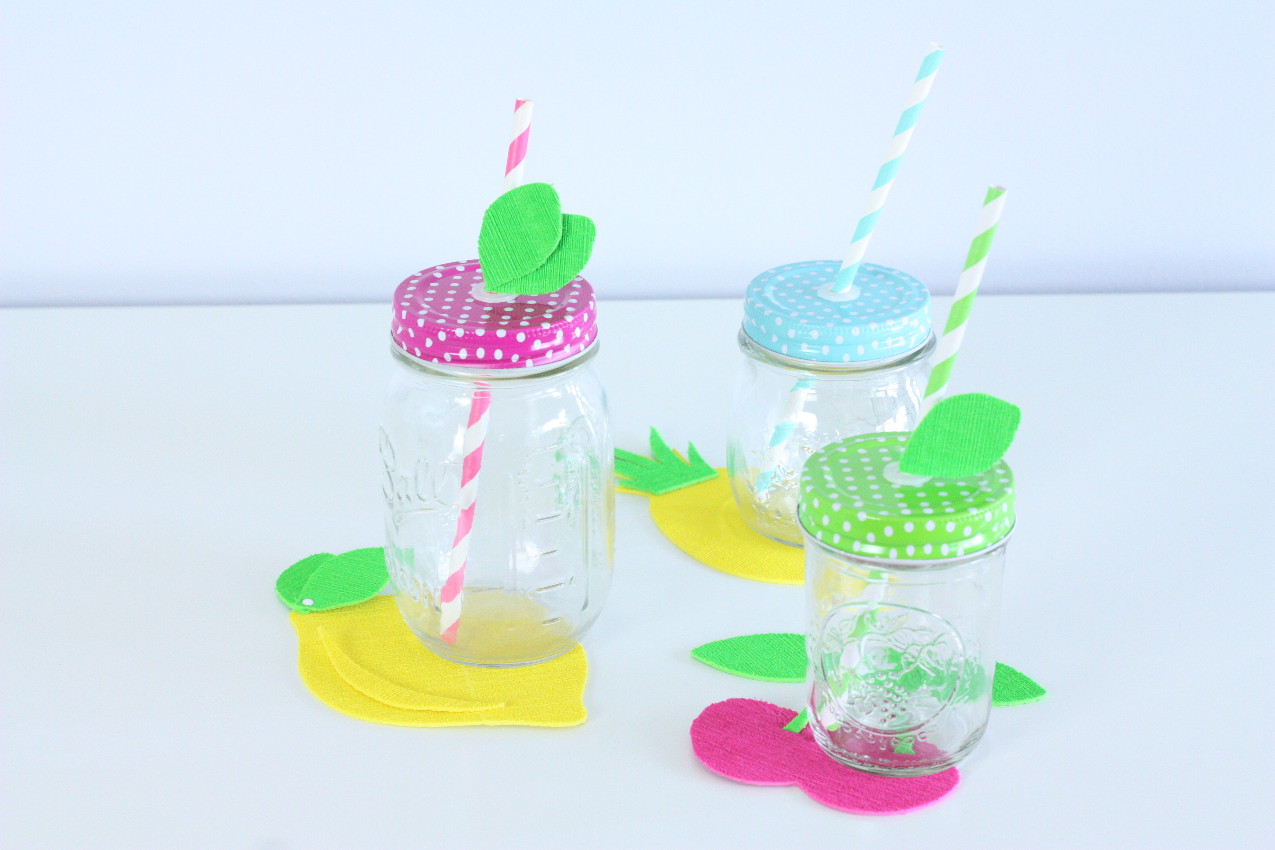 DIY Fruit Coasters & Summer Mason Jars