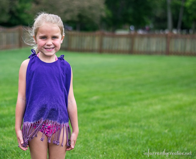 Suns Out DIY Fringe Top Beach Cover-Up