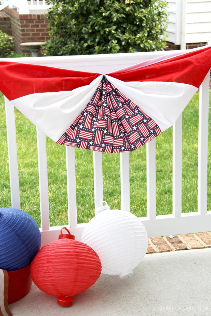 DIY Patriotic Flag Bunting // Memorial Day or Fourth of July Decor // Patriotic DIY Decor
