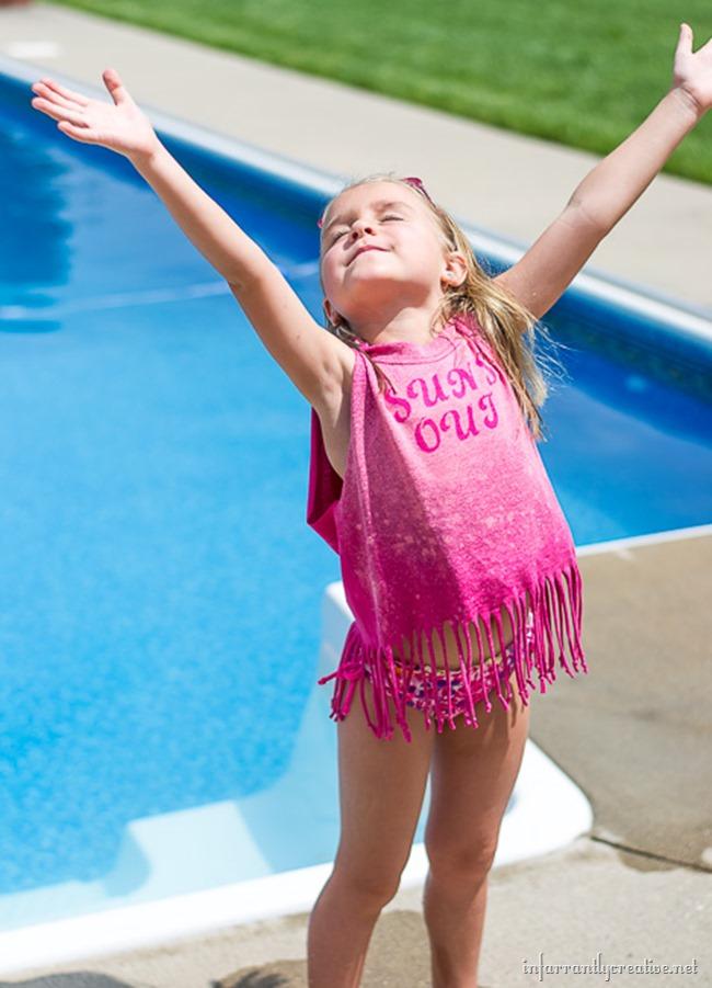 DIY Fringe Bathing Suit Cover-Up