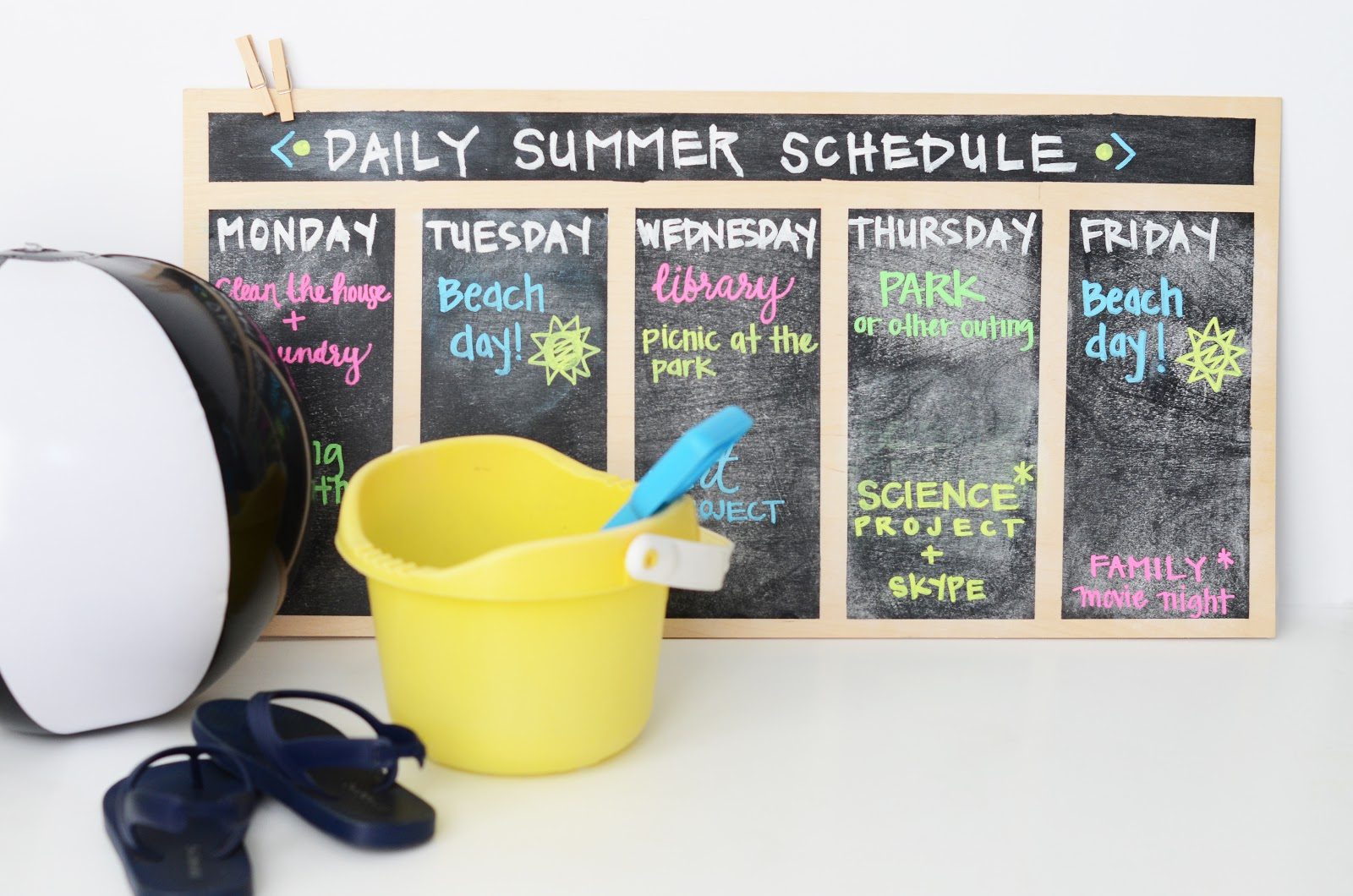 Summer Schedule Board