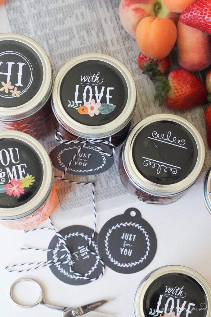 DIY Chalkboard Tag // Jam Jar Gift