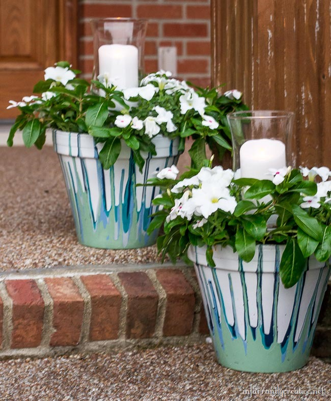 Drip Flower Pots with Candles