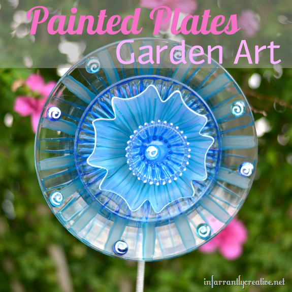Infarrantly Creative Painted Plates Garden Art