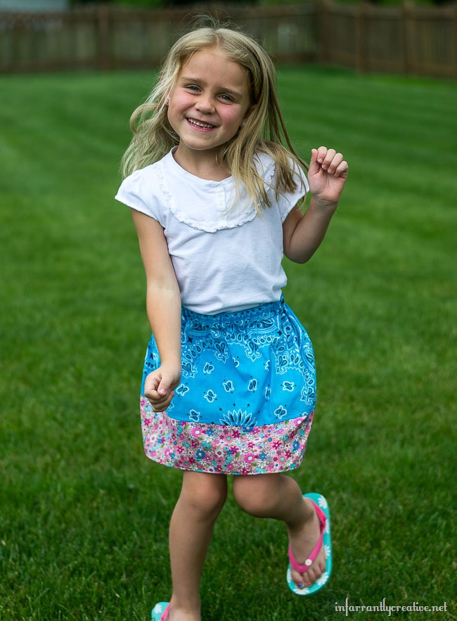 Easy Summer Sew // DIY Girls Bandana Skirt from joann.com/blog