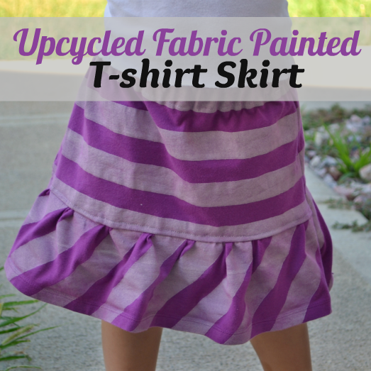 Upcycled Fabric Painted T-Shirt Skirt by InfarrantlyCreative.net