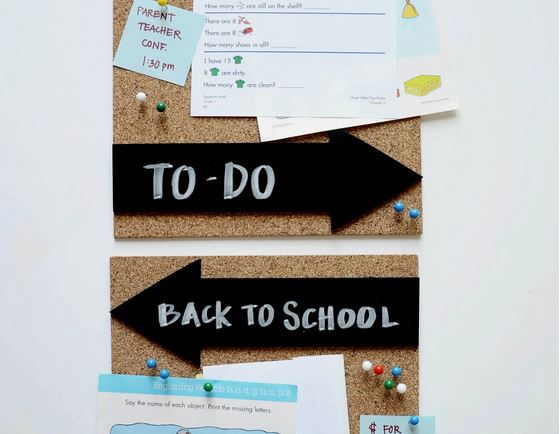 Back To School Cork Board Organizer