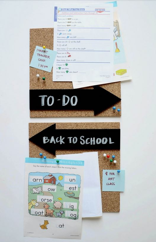DIY Memo Board // Back To School Organization Ideas