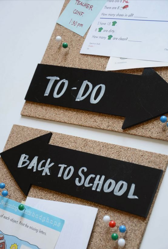 Back To School Organization Ideas from Merrick's Art // DIY Cork Board