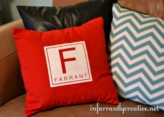 DIY Monogram Pillow