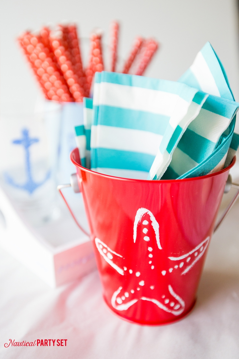 Nautical party set- such a cute and fun summer craft!