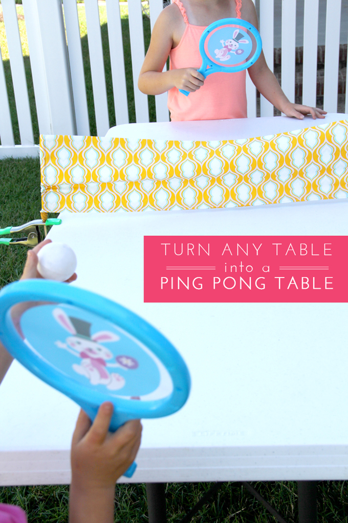 Turn any table in to a ping pong table // DIY Ping Pong Table For Kids