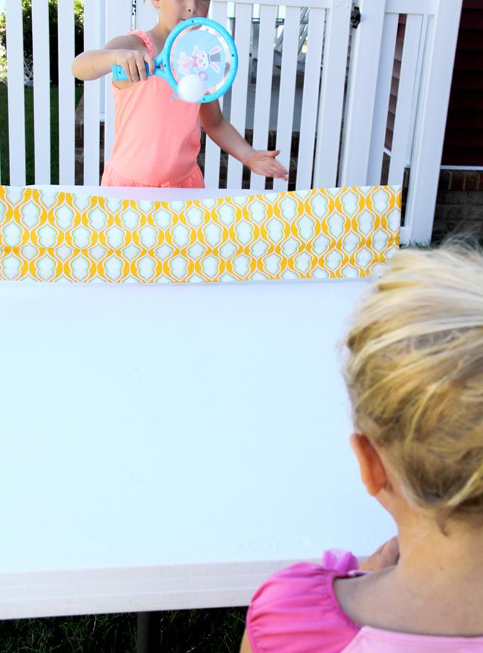 DIY Fabric Ping Pong Net