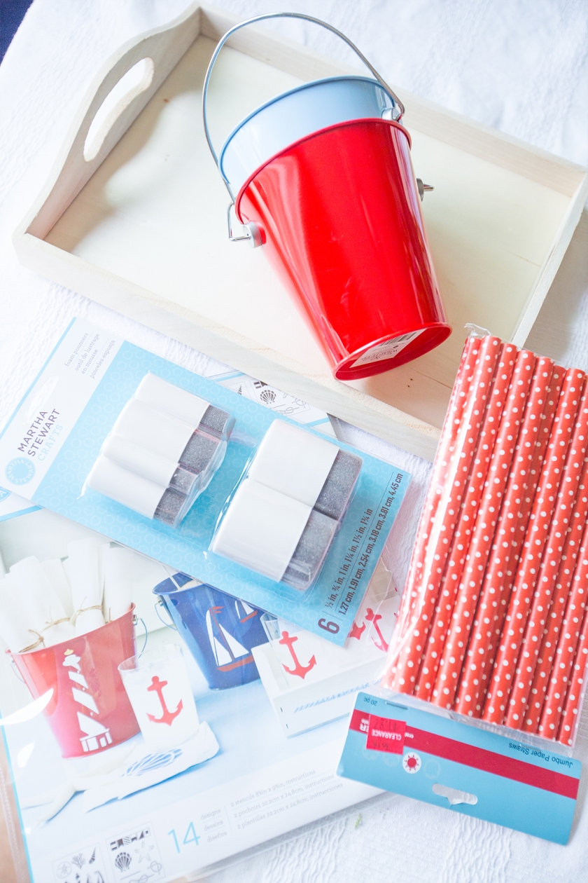 This is a fun and easy way to make a nautical themed party set!