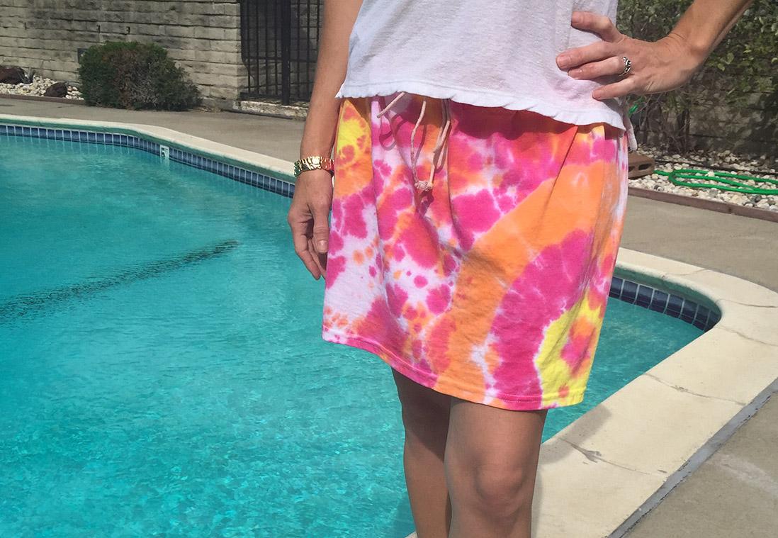 Tie Dye Skirt DIY