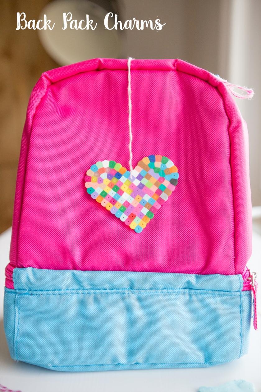 Perler Bead Backpack Charms