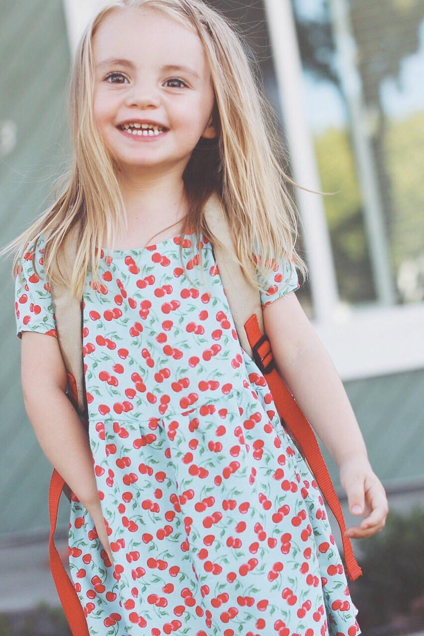 Little Girl's Easy Back to School Dress
