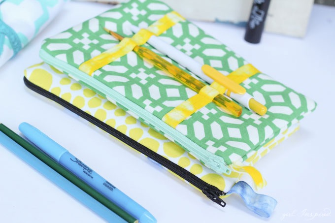 Back to School Organization – DIY Pencil Pouch