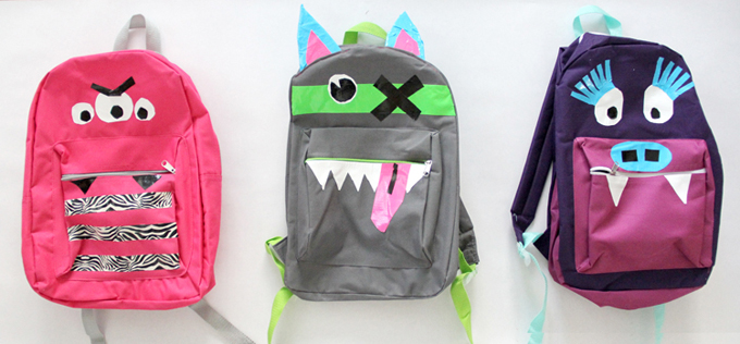Duck Tape Monster Backpack Craft DIY
