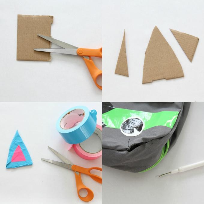 Duck Tape Monster Backpack Craft DIY