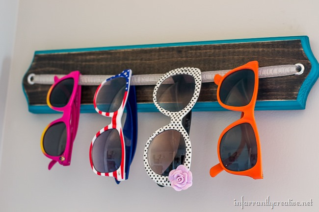 Simple DIY Sunglasses Holder
