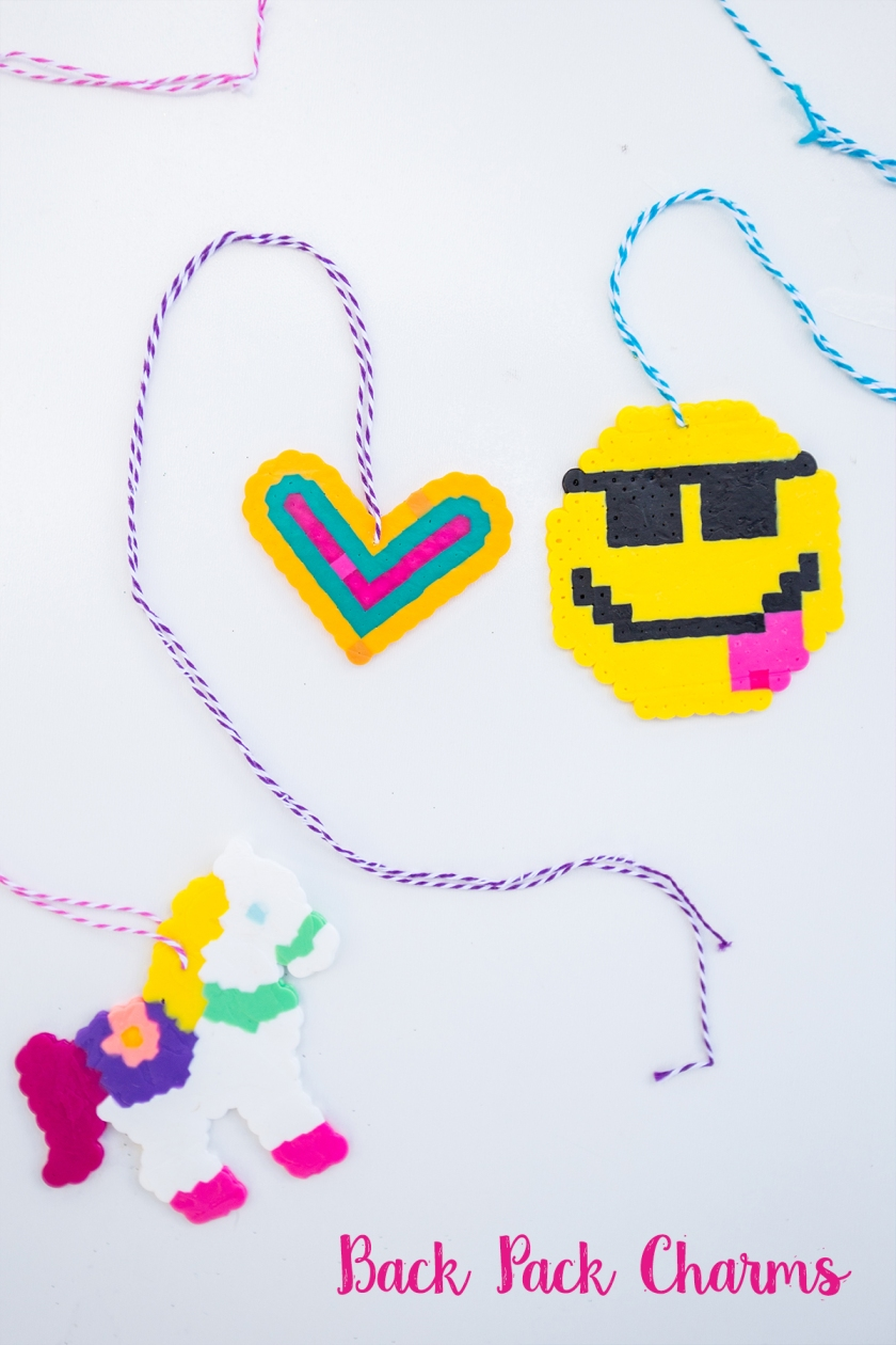 Perler Bead Backpack Charms