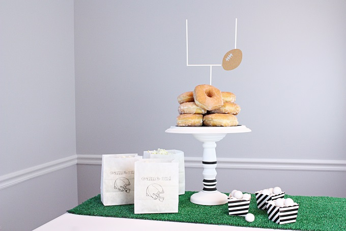 DIY Tailgate Cake Plate