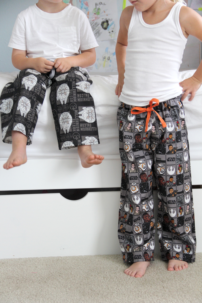 Star Wars Toddler Pajama Pants DIY