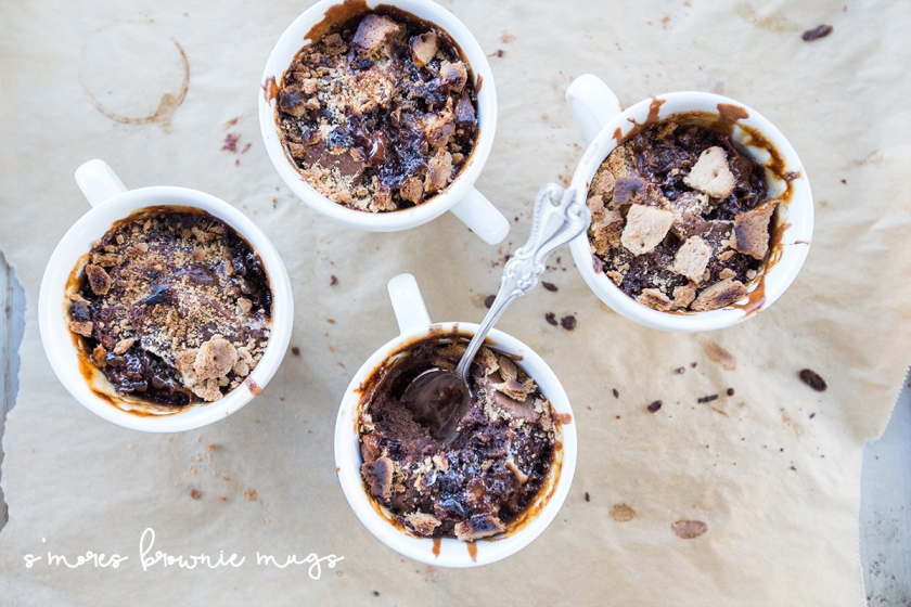 Tailgating Eats - Deep Dish Meatball Mini Pizzas and S'mores Brownie Mugs