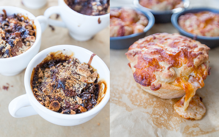 Tailgating Eats – Deep Dish Meatball Mini Pizzas and S'mores Brownie Mugs