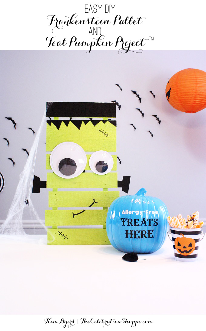Easy DIY Frankenstein Pallet and Teal Pumpkin Project