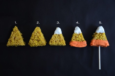 Candy Corn Rice Krispy Treats