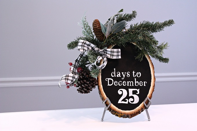 Easy DIY Chalkboard Countdown to Christmas