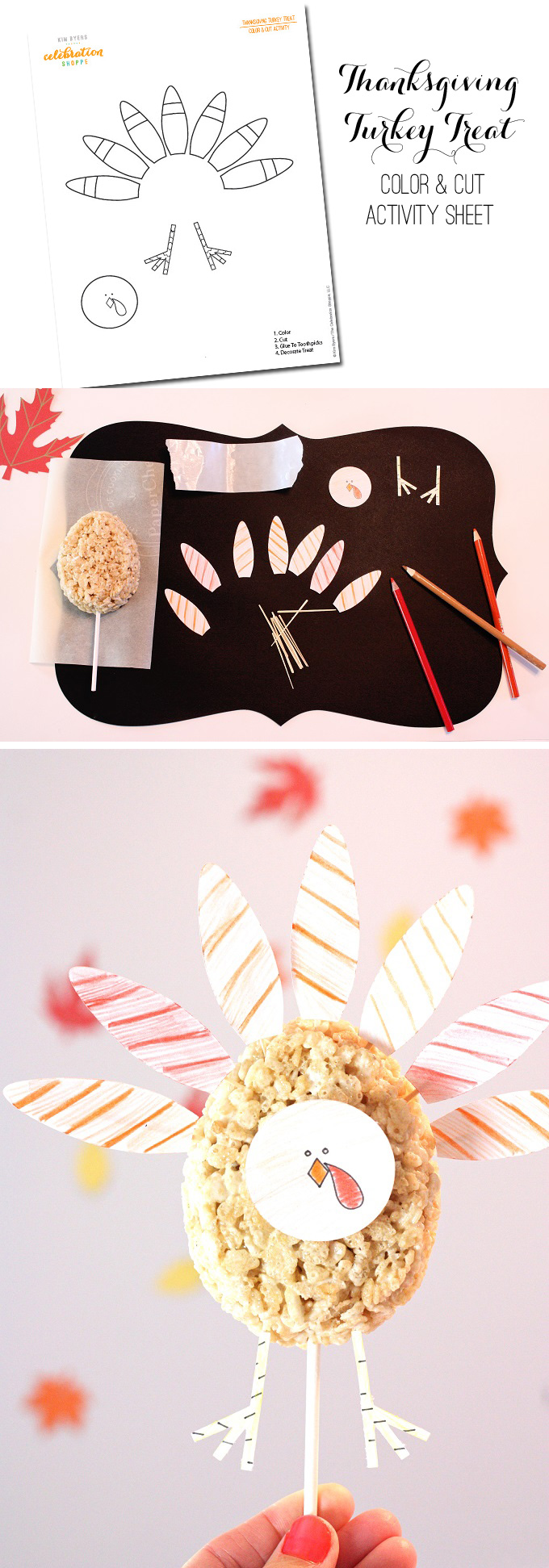 Thanksgiving Kids' Table Activities and Turkey Treats