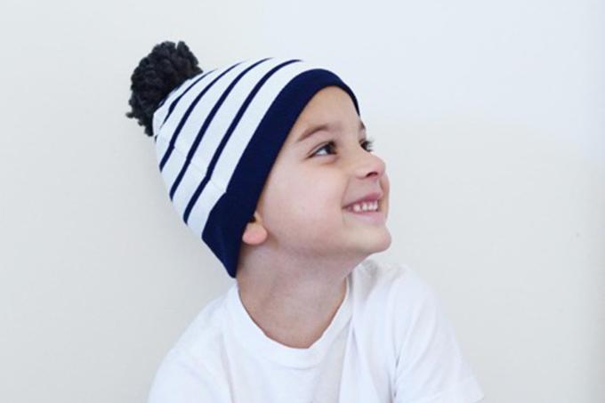 DIY Sweater to Pom-Pom Hat Refashion