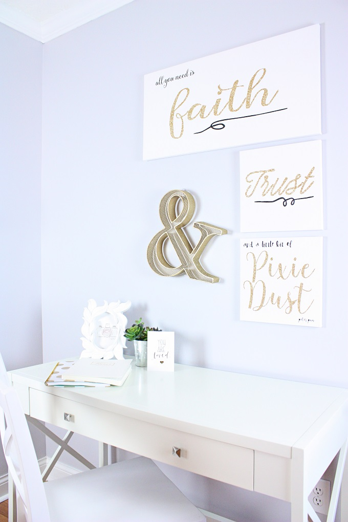 Office Refresh + How To Make Word Of The Year Glitter Art Prints