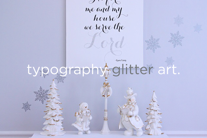 Typography Glitter Art + Free SVG