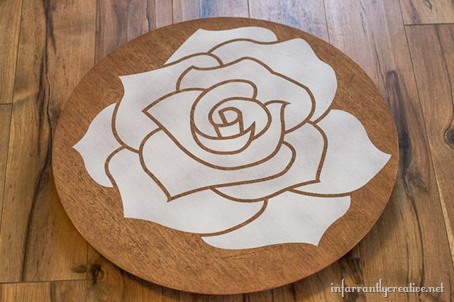 Coral Rose Table Makeover