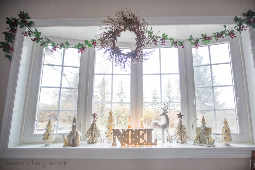 Sparkling Holiday Mantel Decor