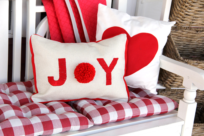 Joy Pom Pillow DIY