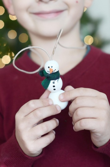 DIY Wooden Snowman Necklace for the Kids