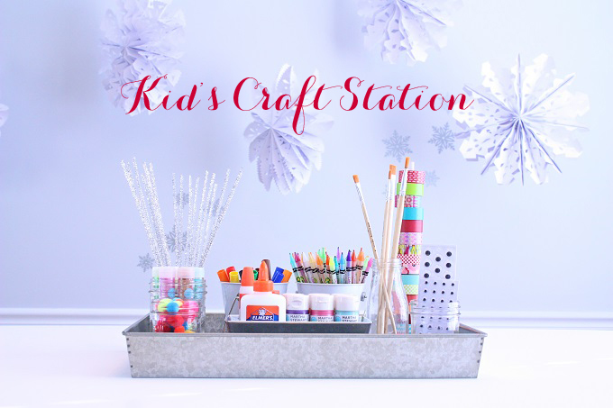 Set Up a Winter Kid's Craft Station