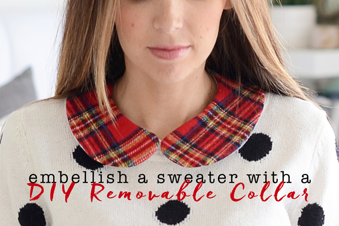 Embellish a Sweater with a DIY Removable Collar