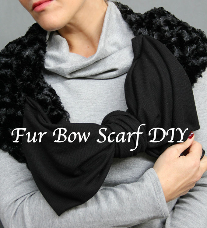 Fur Bow Scarf DIY